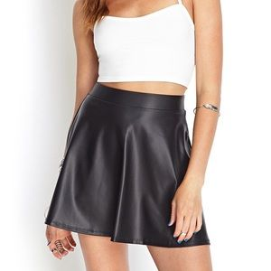 High Wasted Leather Skirt